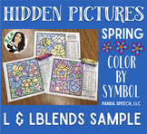 Spring Articulation Color by Symbol Hidden Images L and Lb