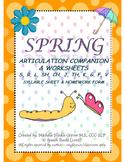 Spring Articulation Companion & Worksheets