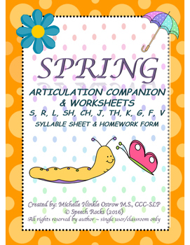 Spring Articulation Companion & Worksheets