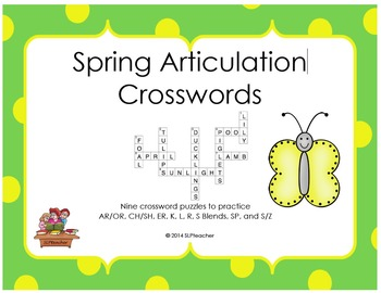 Spring Articulation Crosswords