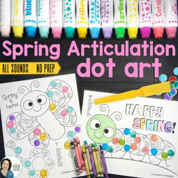 Spring Dot Art {No Prep!}