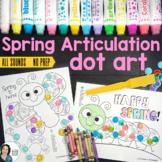 Articulation Dot Art for Spring | No Prep Speech Therapy