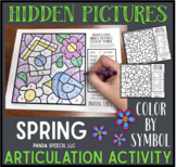 Spring Articulation Color by Symbol Hidden Images A Speech