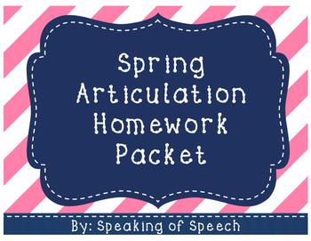 Spring Articulation Homework Packet
