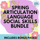 Spring Articulation, Language, & Social Skills Activity Bundle