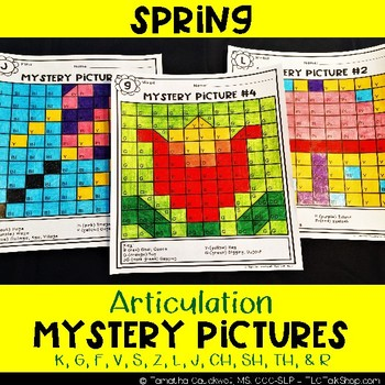 Spring: Articulation Mystery Pictures