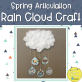 Spring Articulation Rain Cloud Craft