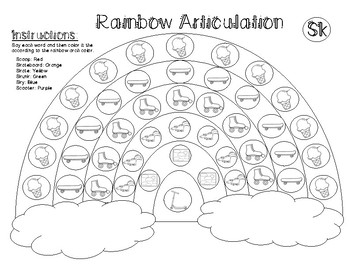 Spring Articulation Rainbow K, G, F, S, Sh, Ch, L, R & Blends