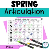 Spring NO PREP Articulation Roll Say Color - Sound Practice Speech Therapy