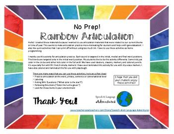 Spring Articulation S-Blends Rainbow