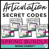 Spring Articulation Secret Codes BOOM Cards BUNDLE for Dis