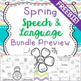 Spring Speech & Language Bundle Preview FREEBIE!!