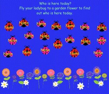 Ladybug Attendance for the SMARTBoard