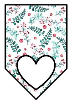 Spring, Autumn, Pastel Theme, Classroom Decor, Blank Pennant Banners