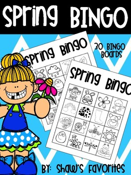 Color Me Spring BINGO {30 BINGO Boards}
