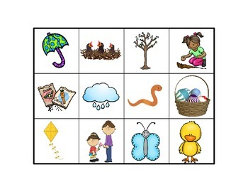 Spring BINGO: Language based game