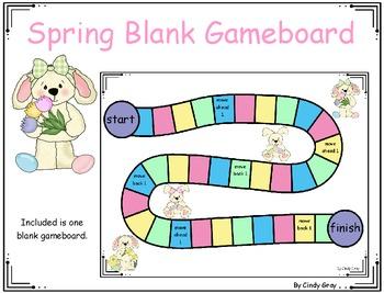 FREE Blank Spring Gameboard