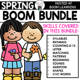 Spring BOOM BUNDLE -9 Boom Cards Decks for Preschool Math