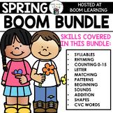 Spring BOOM BUNDLE -9 Boom Cards Decks for Preschool Math