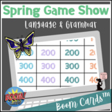 Spring BOOM Cards™ - Language & Grammar - Game Show for Elementary