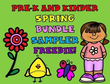 Spring BUNDLE for Pre-K and Kindergarten FREEBIE SAMPLER