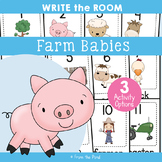 Spring Babies Down On the Farm - Write Cut Paste the Room