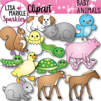 Spring Baby Animals Clip Art