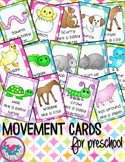 Spring Baby Animals Movement Cards for Preschool and Brain Break