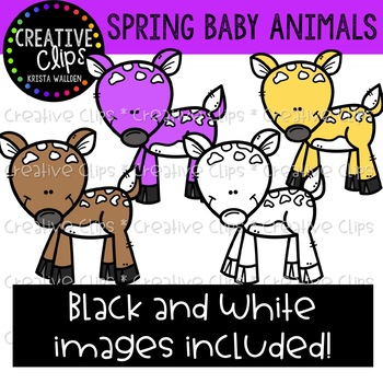 Spring Baby Animals: Spring Clipart {Creative Clips Clipart}