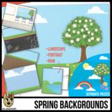 Spring Background Scenes Clip Art/Digital Paper