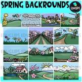 Spring Backgrounds Clip Art Bundle {Educlips Clipart}