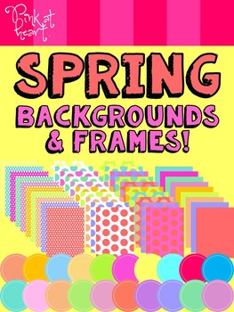 Spring Backgrounds and Frames