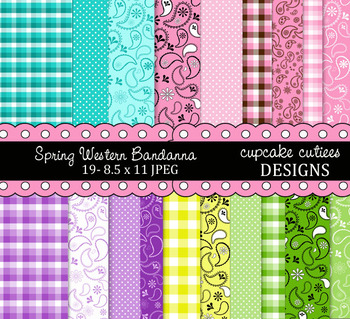 Spring Bandanna Papers- Western Digital Paper Pack