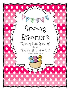 Spring Banners - 2 for 1!