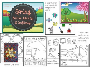 Spring Barrier Activity & Craftivity for Speech and Language Development