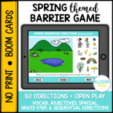 Spring Barrier Game BOOM Cards™️ Speech Therapy Distance Learning