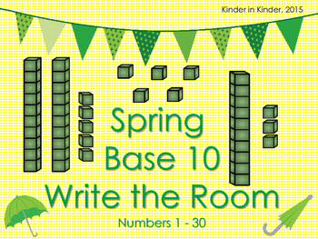 Spring Base 10 Write the Room for Kindergarten and 1st Grade K.NBT.1 1.NBT.2