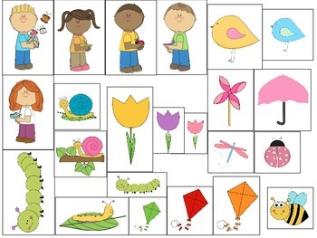Spring Basic Concepts Following Directions For Speech and Language Therapy