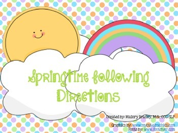Spring Basic Concepts Following Directions For Speech and