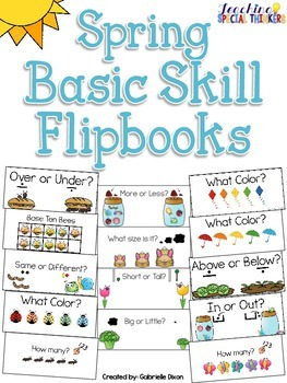 Spring Basic Skill Flipbooks