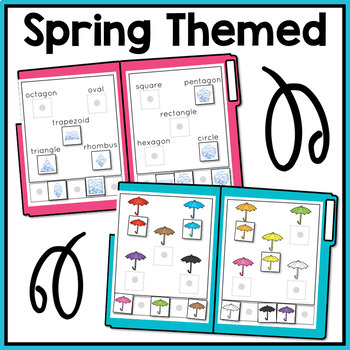 Spring Basic Skills File Folder Activities for Special Education and Autism