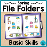 Spring File Folder Activities for Special Education and Autism - Basic Skills