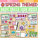 Spring Basic Skills Task Boxes (pre-k & special education)