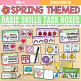 Spring Basic Skills Task Boxes (pre-k, kindergarten, speci