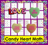 Valentine's Day Activities:  Candy Hearts Math and Literacy