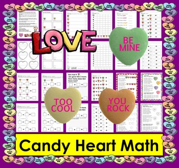 Valentine's Day Candy Hearts Math and Literacy