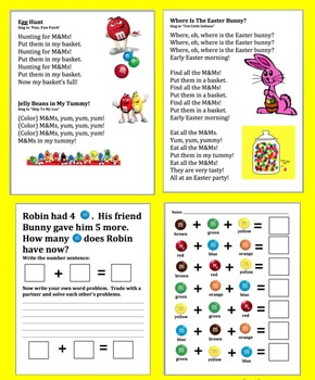 Spring Activities: Basket Project, Poems, & M&M Math