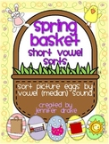 Spring Basket Short Vowel Sound Sorting Center/Game!  CC Aligned!
