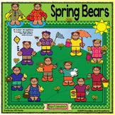 Spring Bears Clip Art