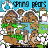 Spring Bears Clip Art Set - Chirp Graphics